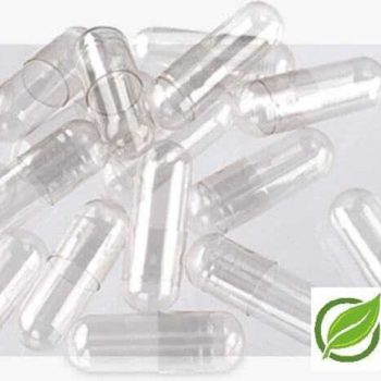 "1000 Cápsulas de gelatina dura transparente (natural), Tamaño ""1"","
